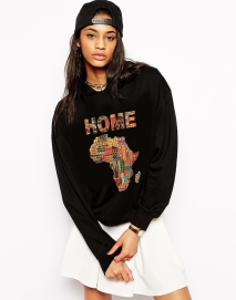 Dovies Clothing, Home Colored Pattern Sweatshirt