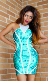 V-Neck Body-con Dress
